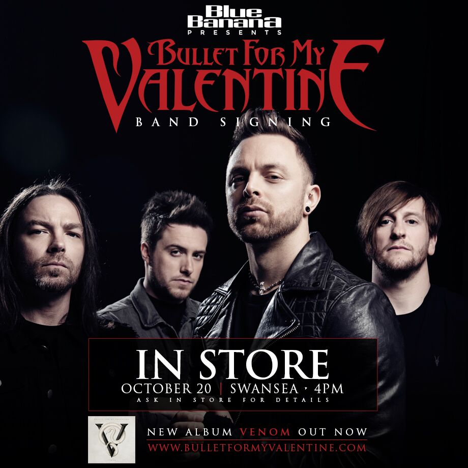 Bullet For My Valentine Band Signing