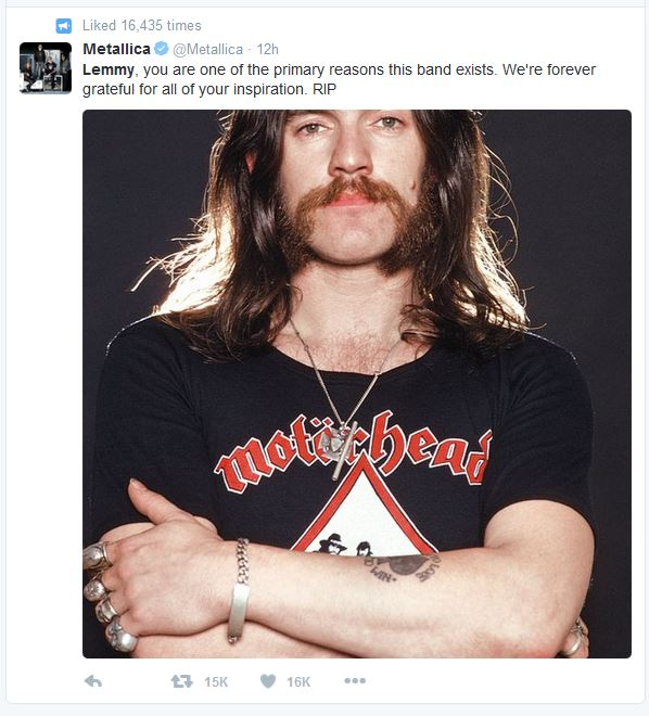 Metallica pay their respects to a man that inspired their whole lives.