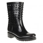 Festival Fashion: Black Studded Wellies