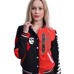 DC Comics Harley Quinn Varsity Jacket (Black/Red)