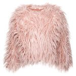 Fresh New Fashion From Blue Banana To Start 2017: Bleeding Heart Cropped Faux Fur Jacket Pink