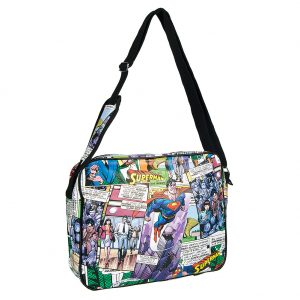 Pop Culture Merchandise, DC Comics Superman Fly Messenger Bag