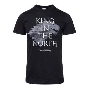 Game Of Thrones T Shirts: Game Of Thrones King In The North T Shirt (Black)