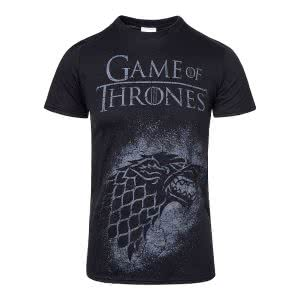 Game Of Thrones T Shirts: Game Of Thrones House Stark Spray Sigil T Shirt (Black)