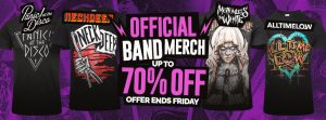Blue Banana Up To 70% Off Band Merch Promo