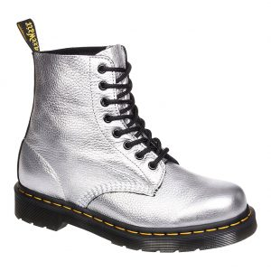Dr Martens Metallic Pascal Boots (Silver)