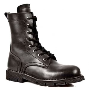 New Rock Style M.1423-S1 Military Boots (Black)