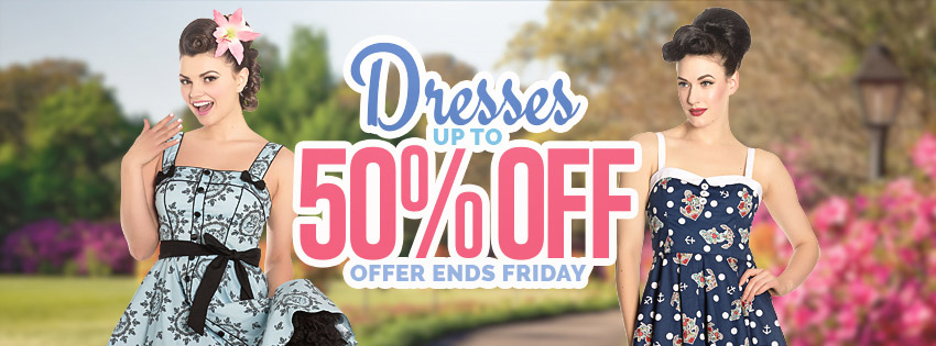 Get some great deals in this dresses sale, offer ends 18/08/2017