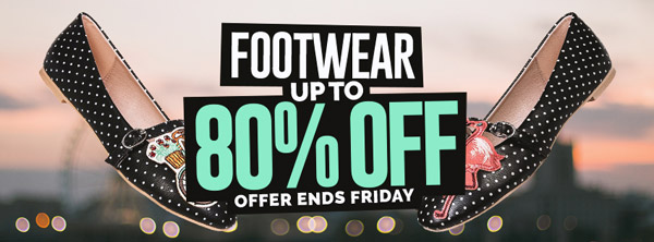 Save up to 80% on the Blue Banana Footwear Sale. Offer Ends 22/09/2017
