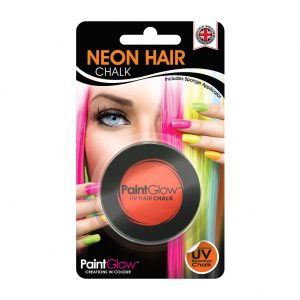 Halloween Hair: Paintglow UV Orange Hair Chalk