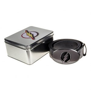Justice League Merchandise Flash Belt Gift TIn