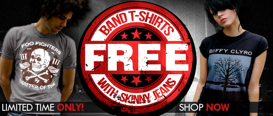 FREE Band T Shirts with Skinny Jeans