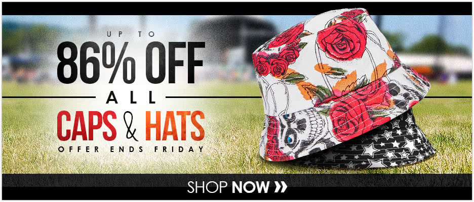 Up to 86% OFF All Caps & Hats