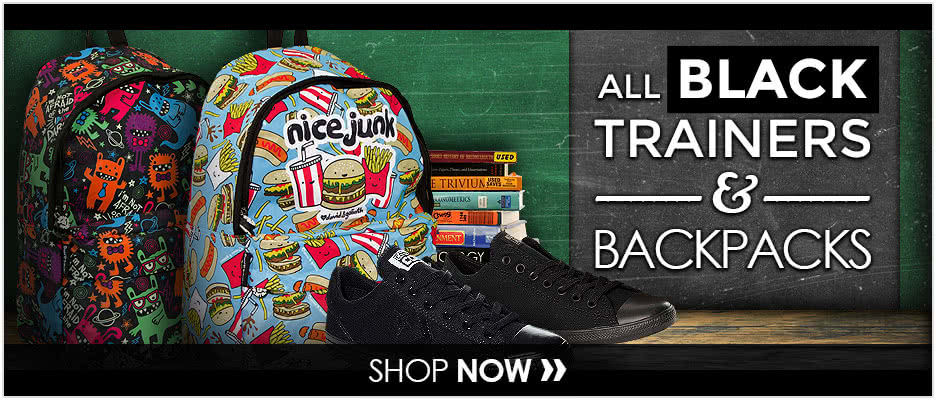 Black Trainers & Backpacks
