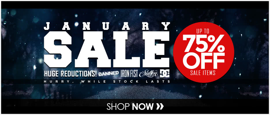 January Sale - All Items Reduced