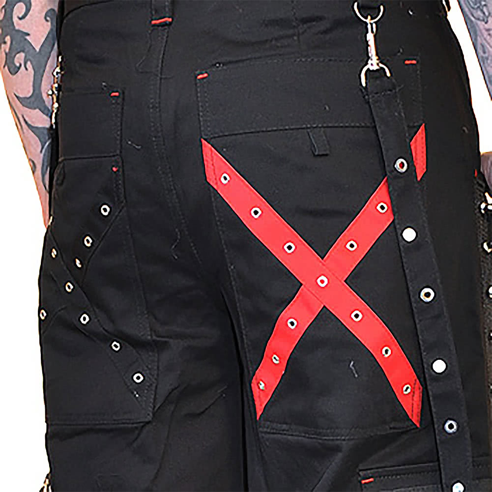 Criminal Damage Hammer Trousers (Black/Red)