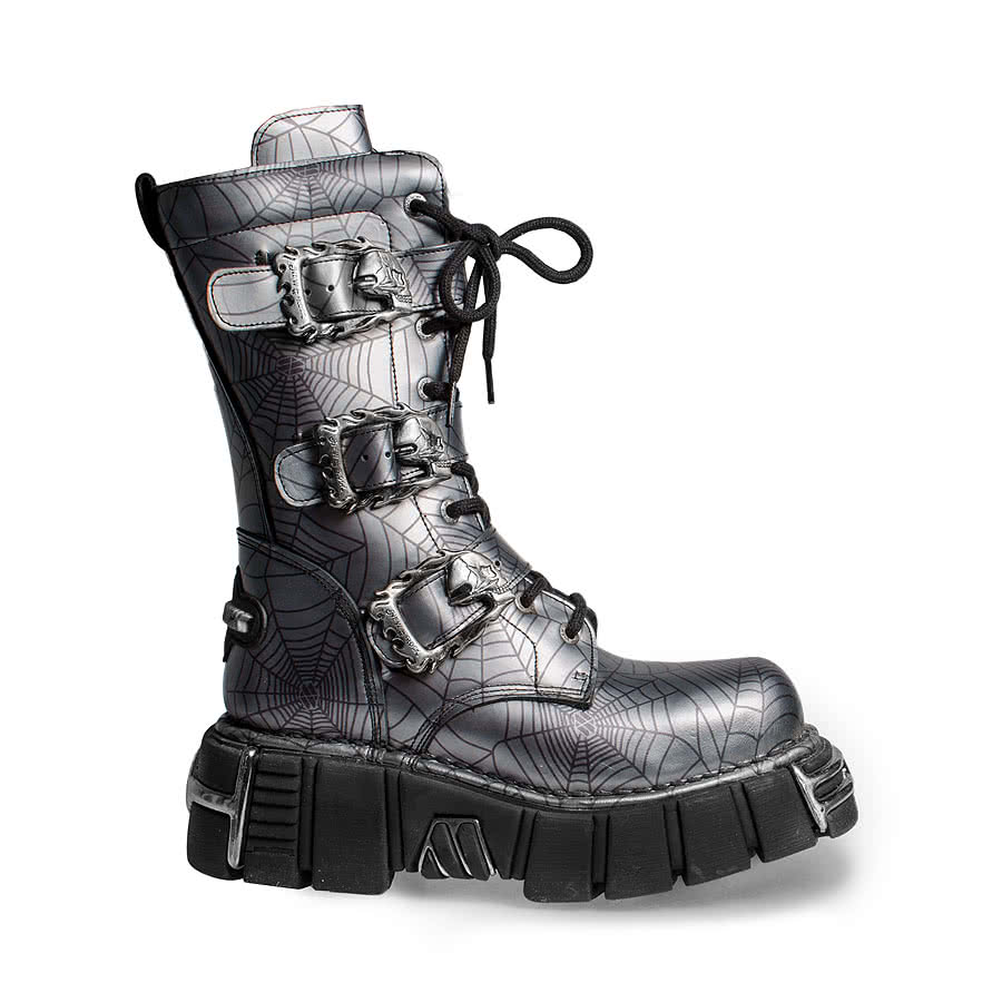 New Rock Boots Style M710 (Black/Grey)