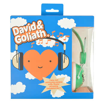 David and Goliath How I Roll Headphones (Green)