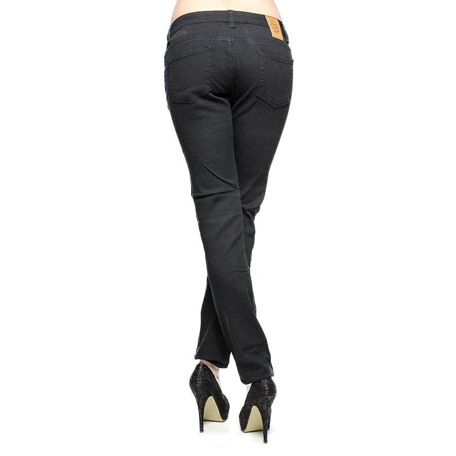 Bleeding Heart Womens Plain Skinny Fit Jeans (Black)