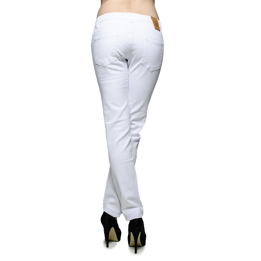 Blue Banana Plain Skinny Fit Jeans (White)
