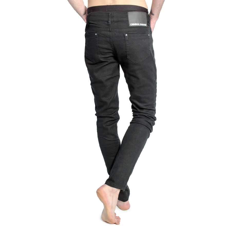 Criminal Damage Men's Skinny Fit Jeans (Black)