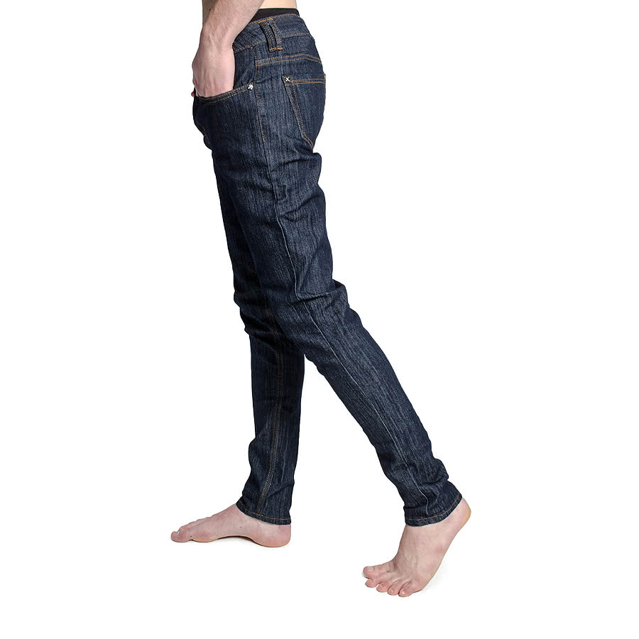 Criminal Damage Mens Indigo Skinny Fit Stretch Jeans (Blue)