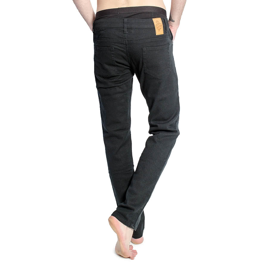 Bleeding Heart Mens Plain Skinny Fit Jeans (Black)