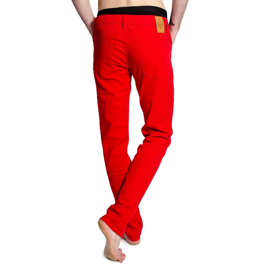 Bleeding Heart Men's Skinny Fit Jeans (Red)
