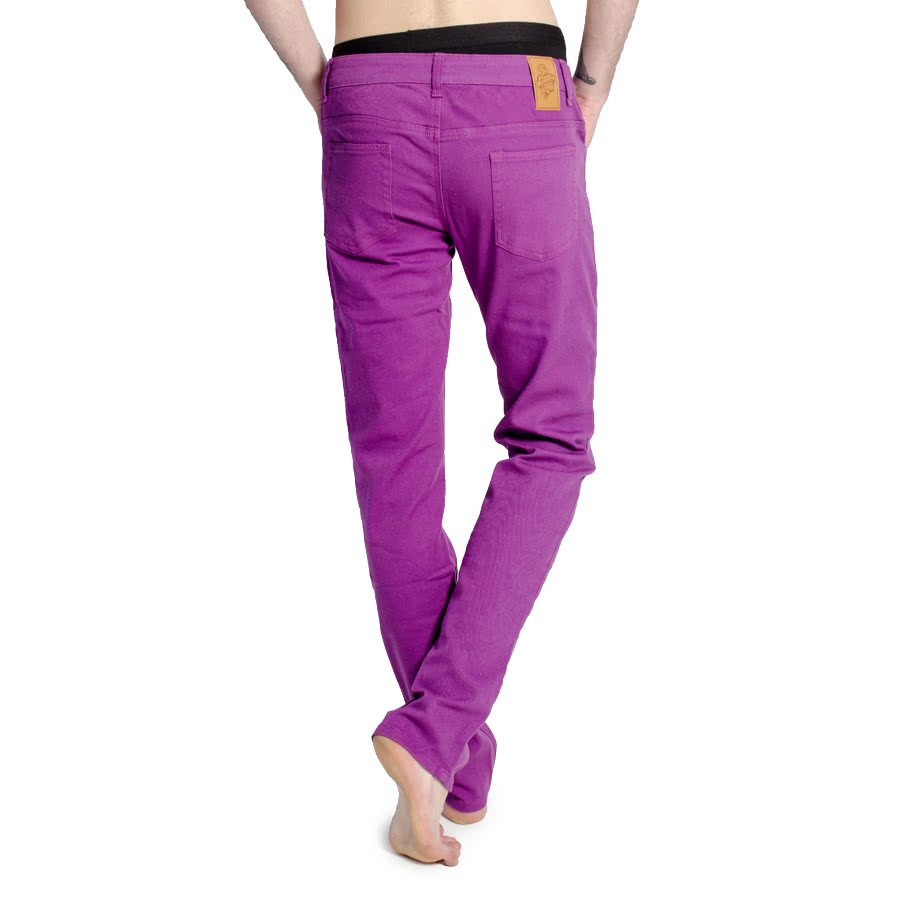 Bleeding Heart Mens Plain Skinny Fit Jeans (Purple)