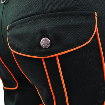 Insanity Black And Orange Rave Trousers