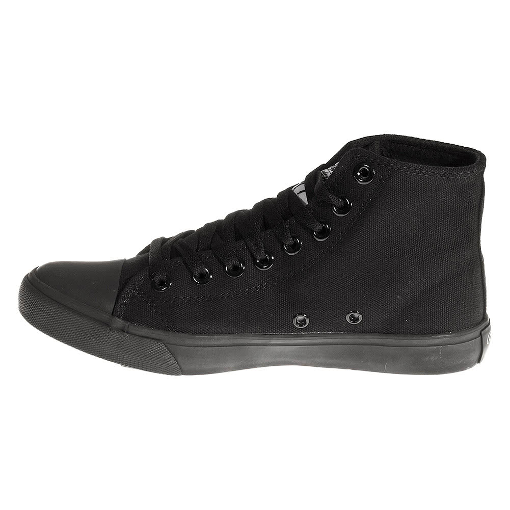 Bleeding Heart Canvas Hi Top Boots (Mono Black)