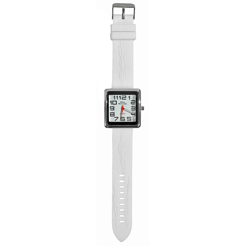 Blue Banana Square Face Watch (White)