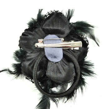 Blue Banana Small Flower Hairclip (Black)