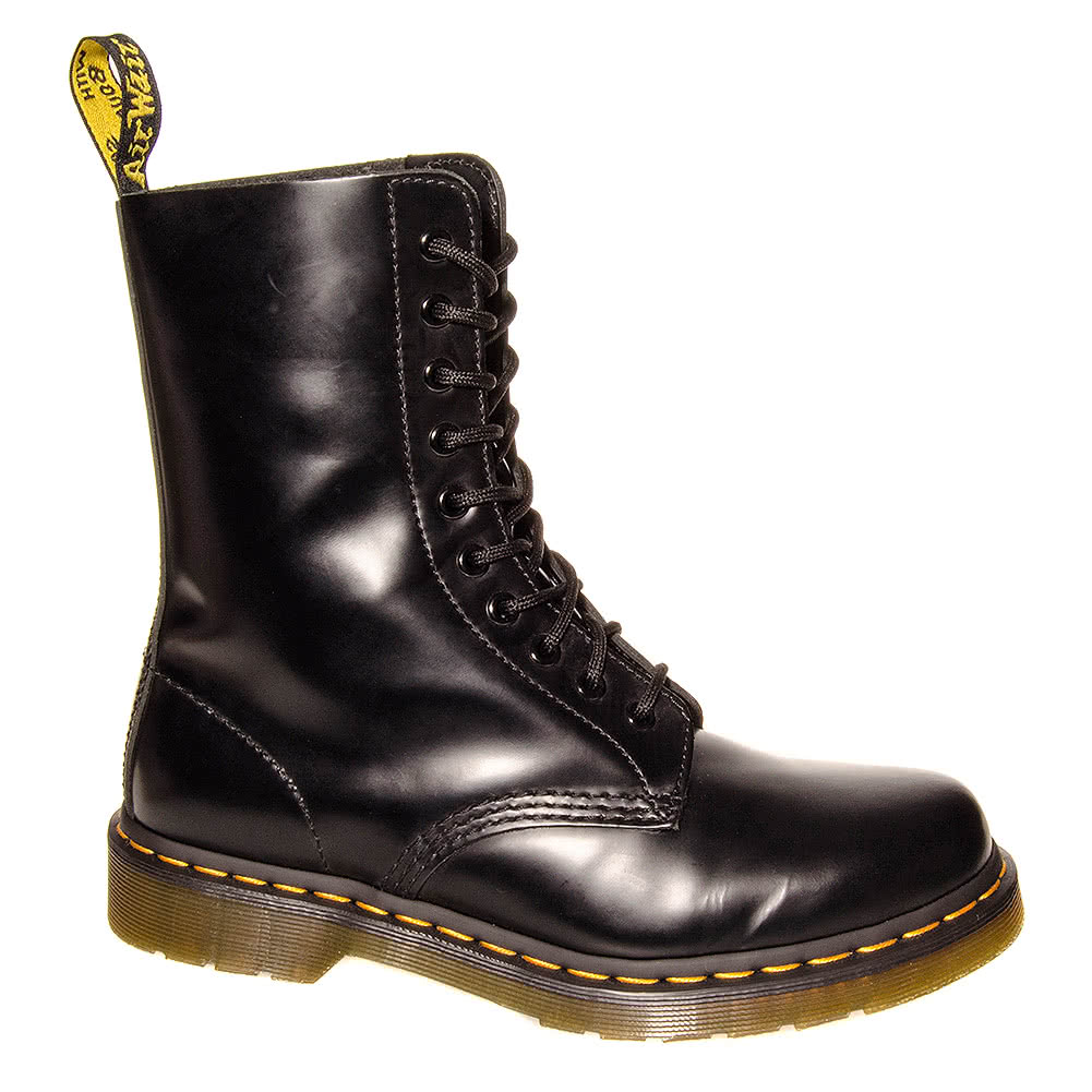 dr martens 1490z stiefel schwarz leder herren 10 loch. Black Bedroom Furniture Sets. Home Design Ideas