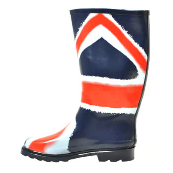 Blue Banana Union Jack Print Wellies