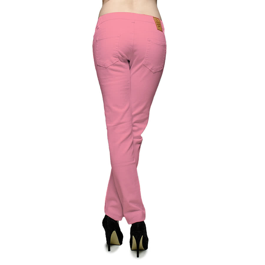 Blue Banana Womens Plain Skinny Fit Jeans (Pink)