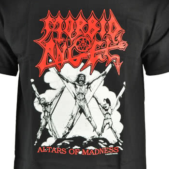 Morbid Angel Altars Of Madness Print T Shirt (Black)