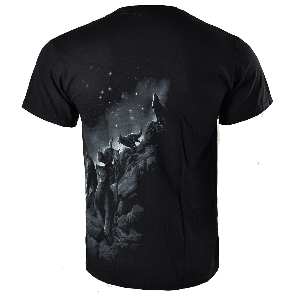 Spiral Direct Wolf Pack Wrap T Shirt (Black)