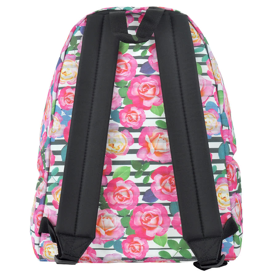 Eastpak Pak'r Florid Stripes Backpack (Pink)