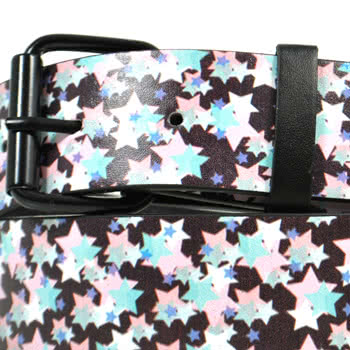 Blue Banana Pastel Star Print Belt
