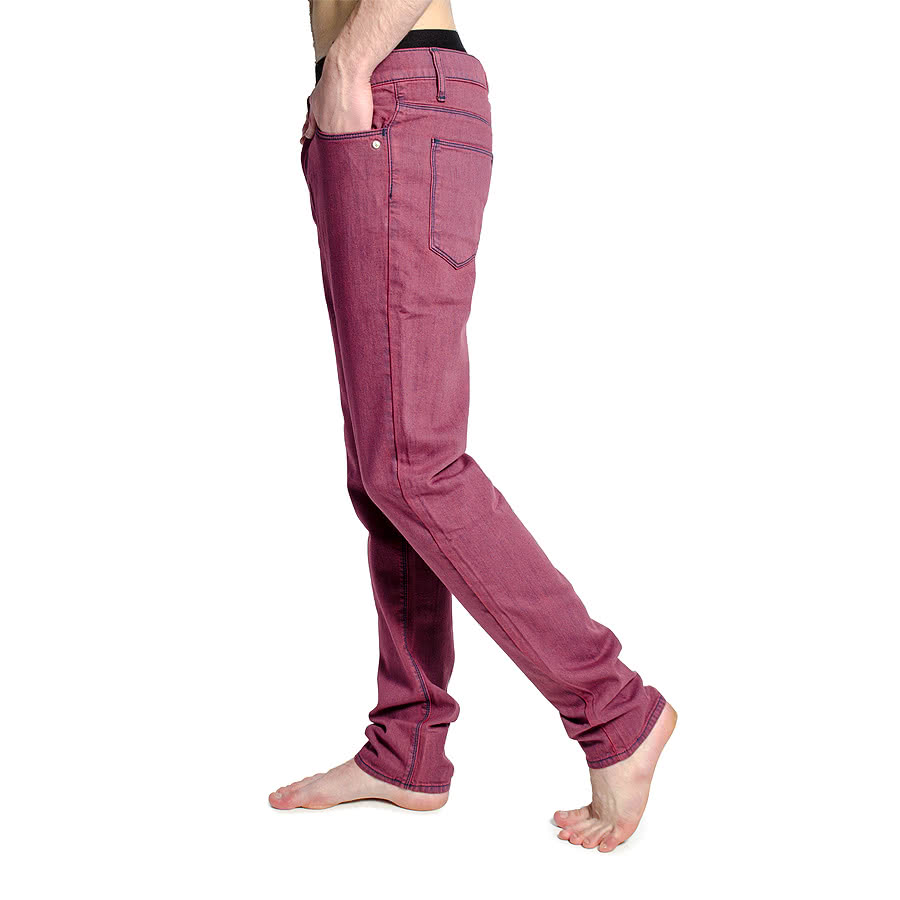 Monkee Genes Classic Skinny Fit Jeans (Inky Red)