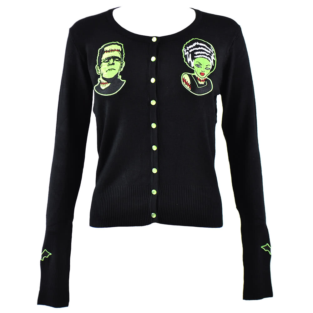 Banned Green Zombie Cardigan (Black)