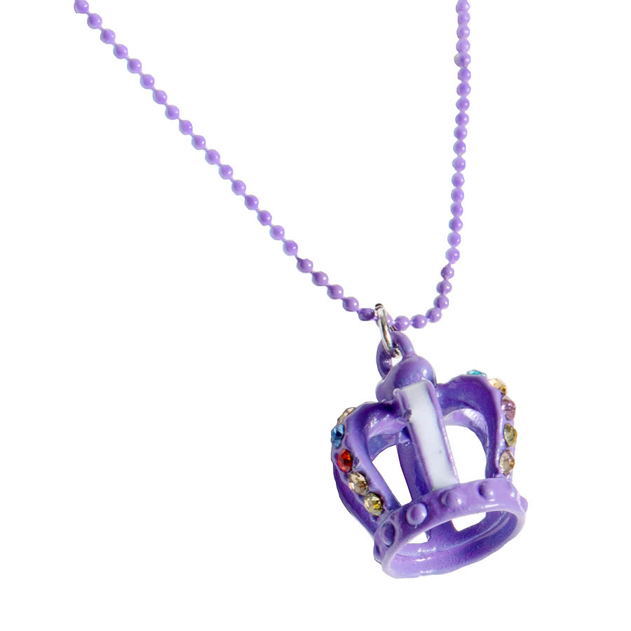 Blue Banana Crown Necklace (Purple)