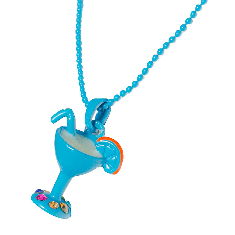 Blue Banana Cocktail Necklace (Blue)