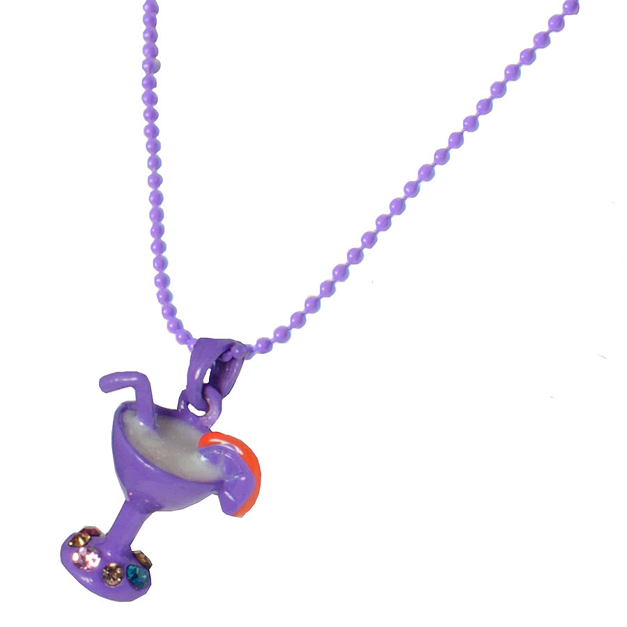 Blue Banana Cocktail Necklace (Purple)