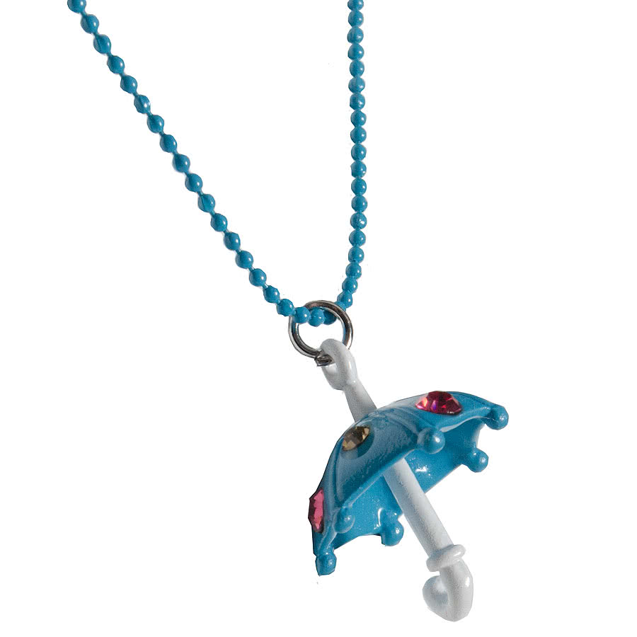 Blue Banana Umbrella Necklace (Blue)