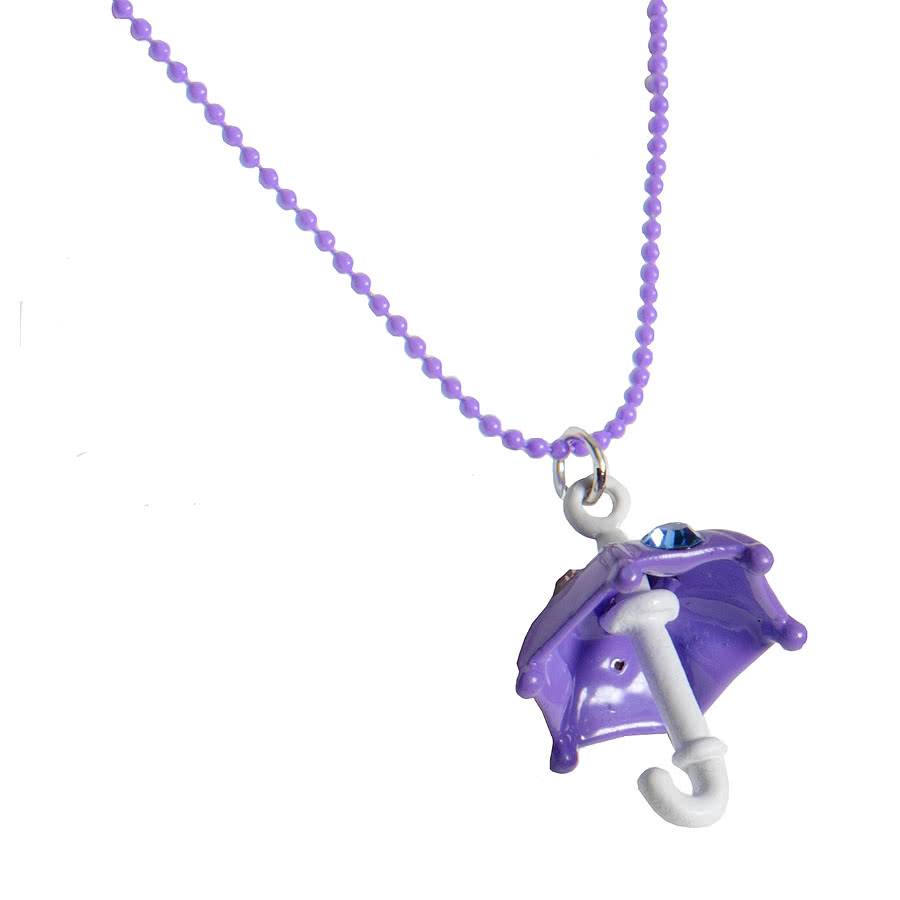 Blue Banana Umbrella Necklace (Purple)