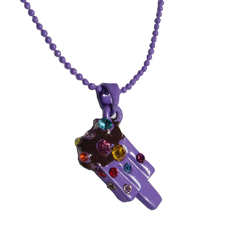 Blue Banana Ice Lolly Necklace (Purple)