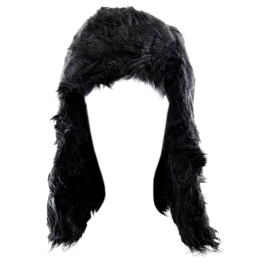 Blue Banana Furry Hat (Black)