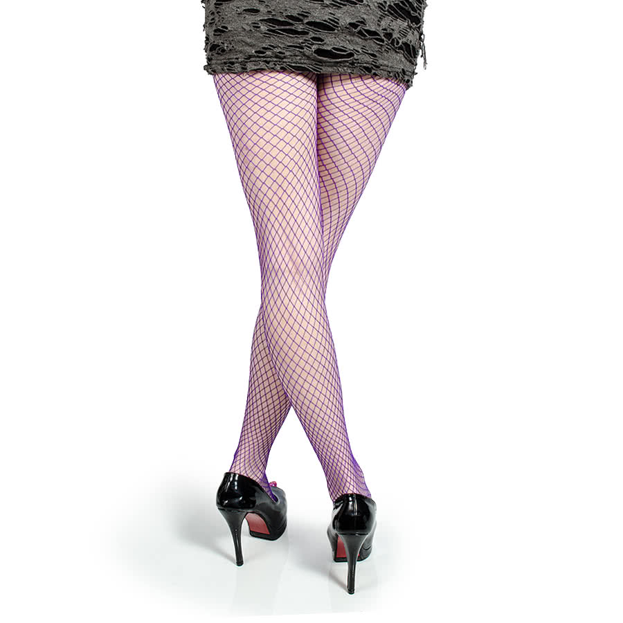 Blue Banana Large Fishnet Tights (Purple)